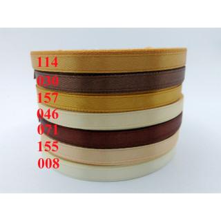 Лента атласная 0,5 см - оттенки коричневый