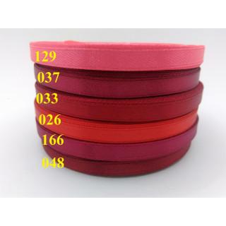 Лента атласная 0,5 см - оттенки красный
