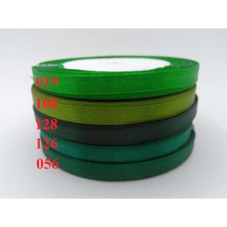 Лента атласная 0,5 см - оттенки зеленый