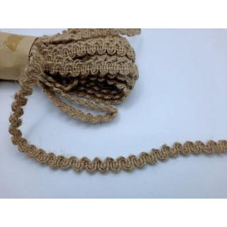 Тесьма из мешковины змейка 0,7 см