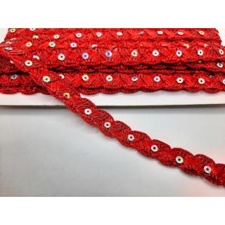 Тесьма красная 1,5 см