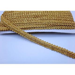 Тесьма косичка золото 1,5 см