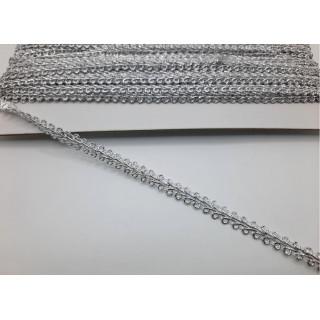 Тесьма колосок серебро 0,7 см