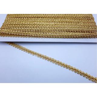 Тесьма колосок золото 0,7 см