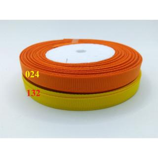 Лента репсовая 1,0 см - оттенки желтый