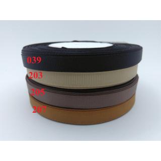 Лента репсовая 1,0 см - оттенки коричневый
