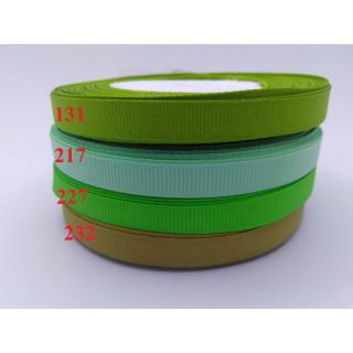 Лента репсовая 1,0 см - оттенки зеленый