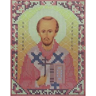 Иоанн Златоуст (частичная вышивка)