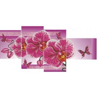 Триптих - Розовая орхидея