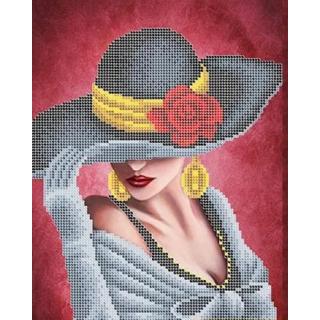 Девушка в шляпе с розой
